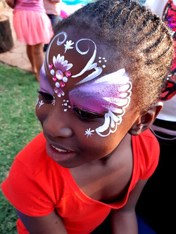 Butterfly Beadazzle Mask Face Paint