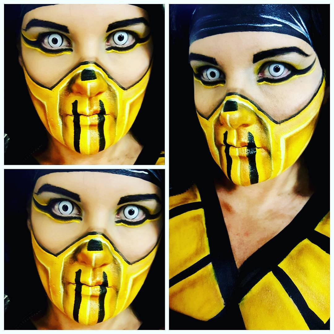 Mortal Kombat Halloween Makeup