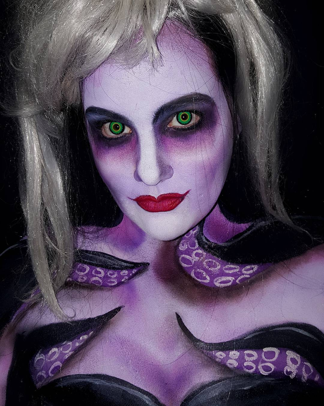 Ursula Halloween Face Paint