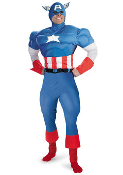 Deluxe Adult Captain America