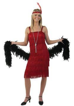 Red Flapper 1920's dress