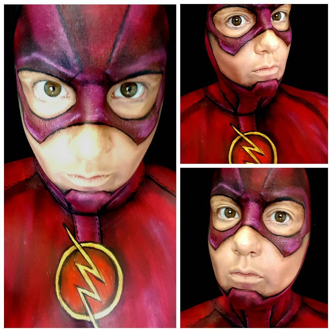 Flash Superhero Face Paint
