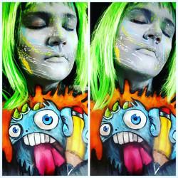 Grafitti Halloween Face Paint