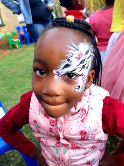 Zebra Hair and Eye Face Paint Desing