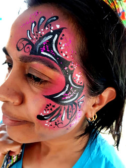 Batgirl Eye Design Face Paint