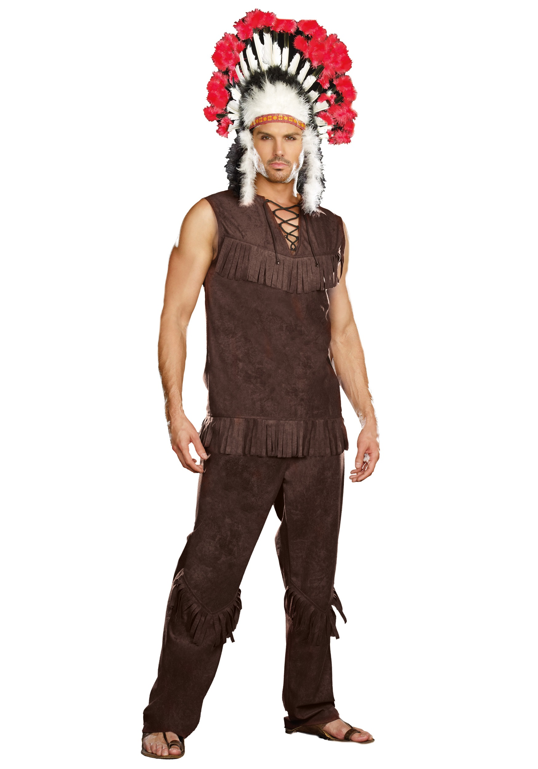 Mens Chief Apache Indian Costume