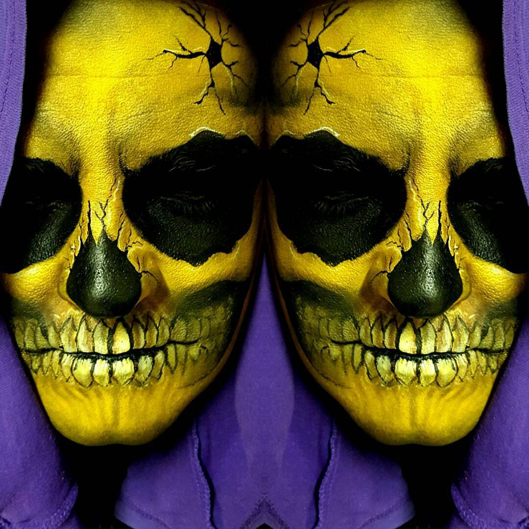 Skeletor Halloween Makeup