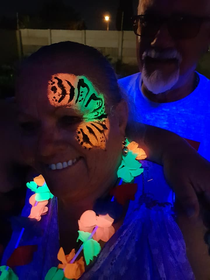 Tiger Stripe Lumo Face Paint Design