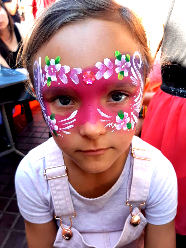 Flower Girls Mask Face Paint
