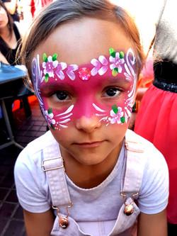 Flower Girls Mask Face Paint