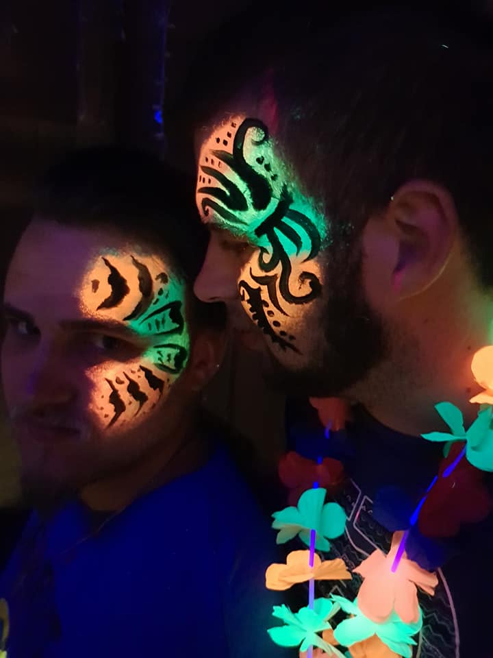 Tiger Cheek Lumo Face Paint Design