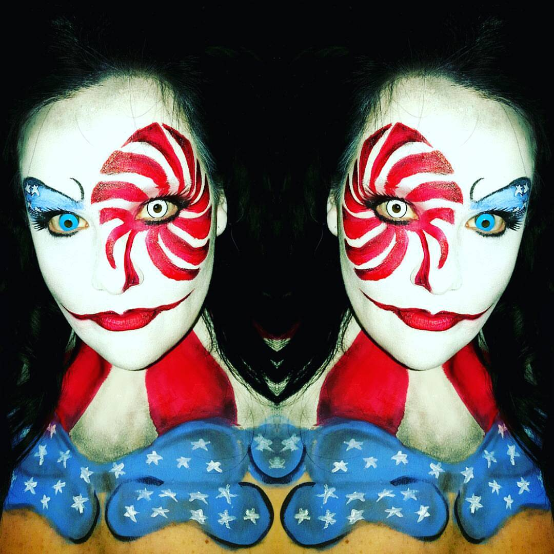 American Clown Halloween Makeup