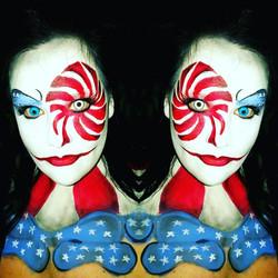 American Clown Halloween Makeup