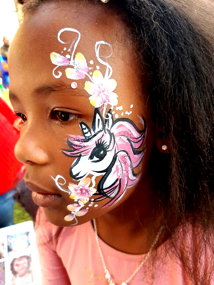 Big Unicorn Cheek Girls Face Paint