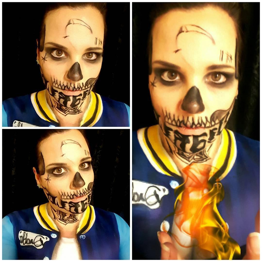 El Diablo Halloween Makeup