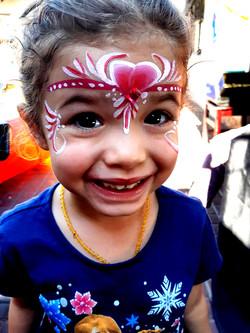 Pink Princess Girls Face Paint