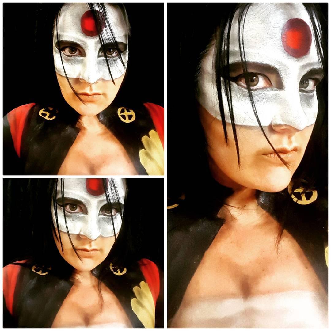 Katana Halloween Makeup