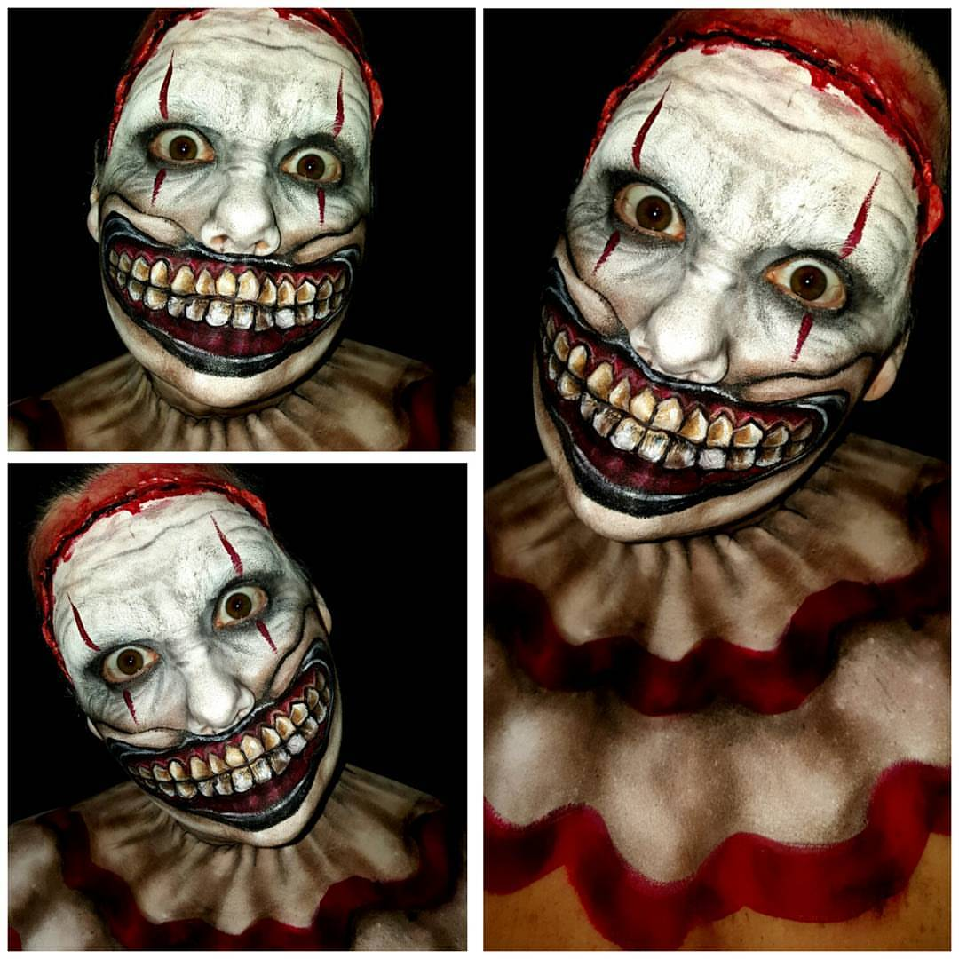 Twisty the Clown Halloween Makeup