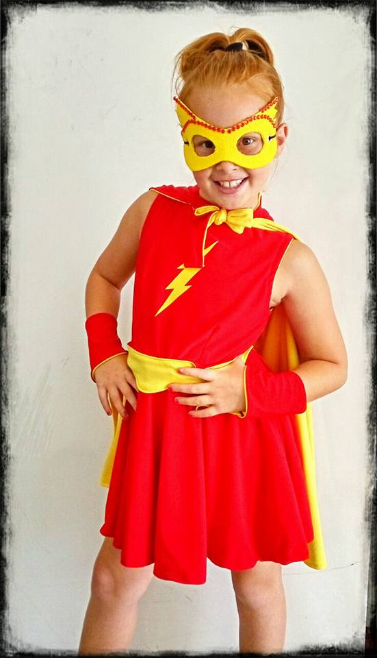 Kids Little Miss Flash Kids Costume