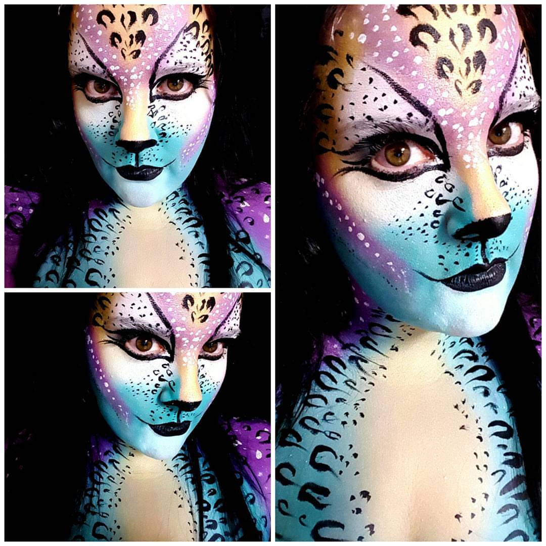 Galaxy Cat Halloween Makeup