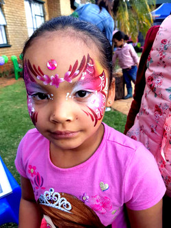 Pink Butterfly Girl Face Paint