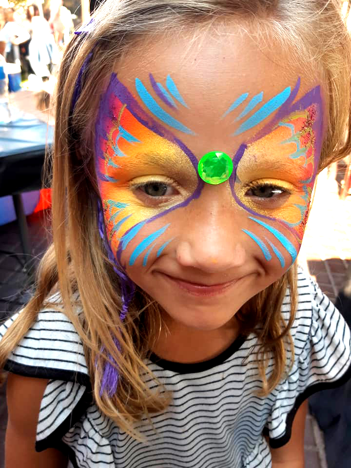 Lumo Butterfly Girls Face Paint