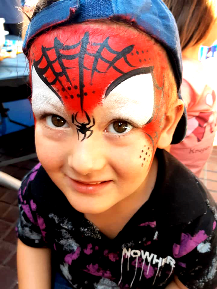 Spiderman Boys Face Paint