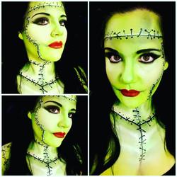 Frankenstein's Bride Halloween Makeu