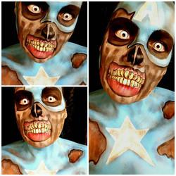 Zombie Captain America Face Paint