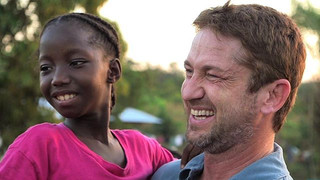 Gerard Butler in Liberia