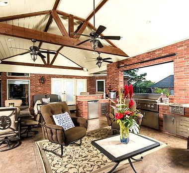 outdoor kitchen, patio addition
