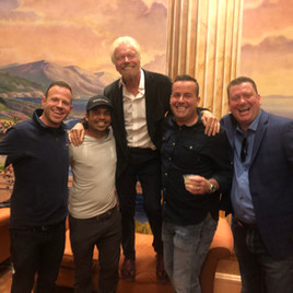 Richard Branson with Jeremy Ostermiller and friends