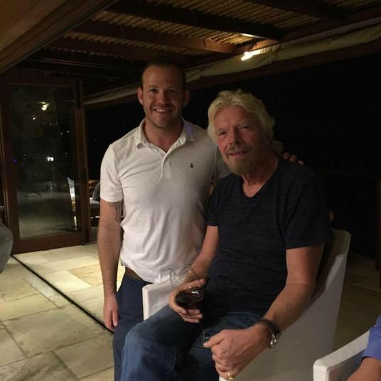Richard Branson and Jeremy Ostermiller