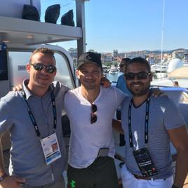 Cannes France | Jeremy Ostermiller, Jeremy Renner and Damian Maldonado