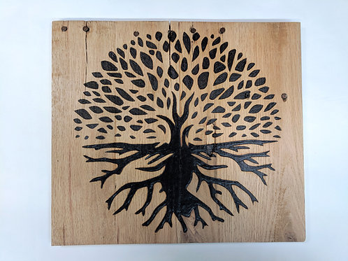 Tree of Life on reclaimed wood