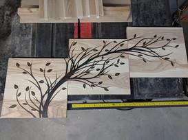 Three piece branch on urban Ash wood