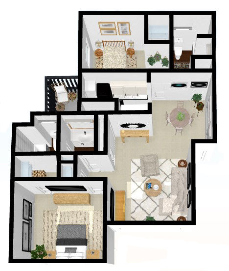 2 BR Laurie - $1,229