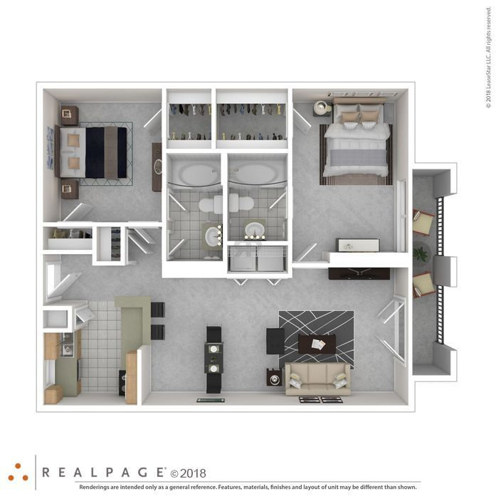 2 BR x 2 BA - The Bristol - From $1,350