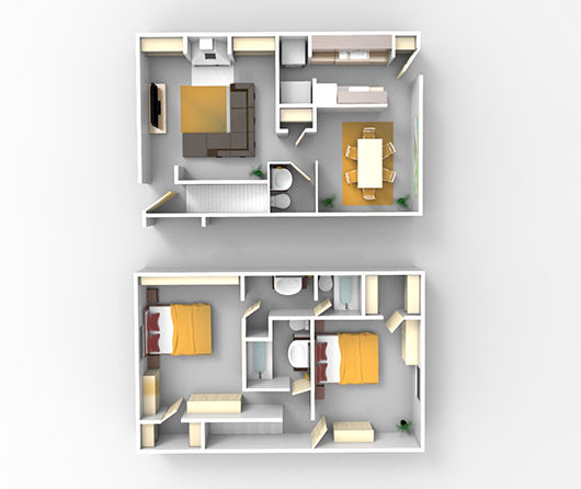 2 BR x 2 BA The Fe From $1,110