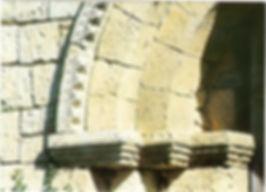 Le portail détail sculpture avant restauration