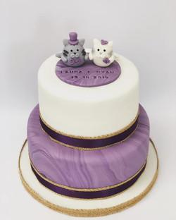 Wedding Cake Marble effect
