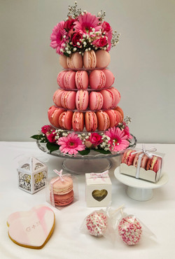 Macaron Tower and Favours