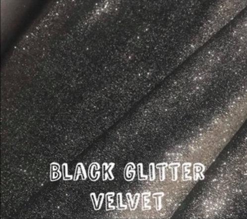 Black Glitter Velvet