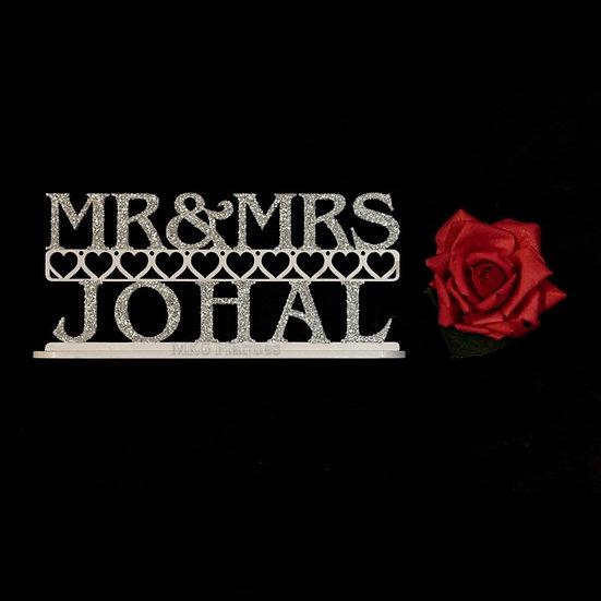 Mr & Mrs Surname Plaque