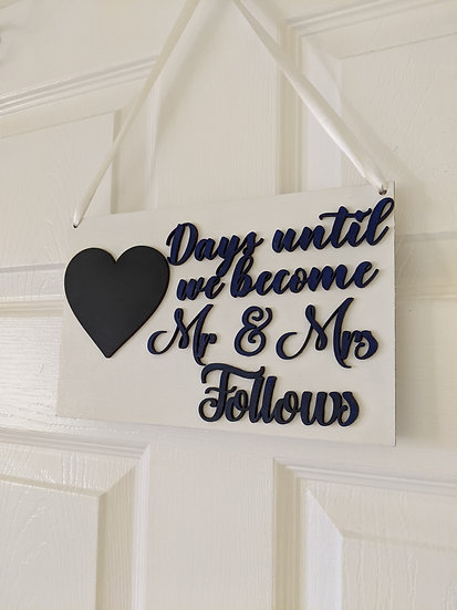 Wedding Countdown Sign