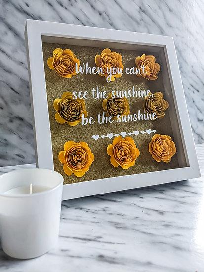Floral Positivity Frame