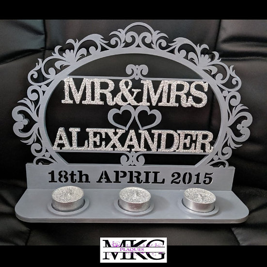 Mr & Mrs Oval Plaque