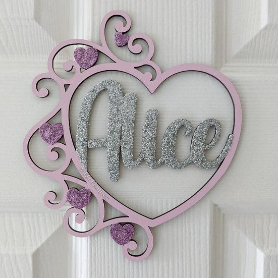 Heart Door Plaque