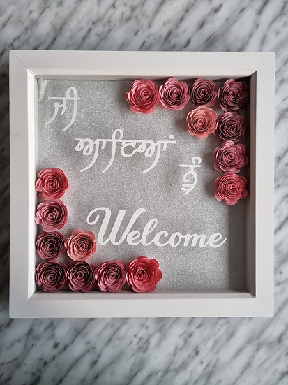 Welcome Floral Frame