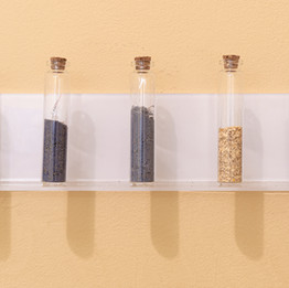 Test tubes with pigments